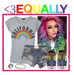 """""""LGBT EQUALLY!!!"""" by lauren99999 ❤ liked on Polyvore featuring Abercrombie & Fitch, Converse and JewelGlo"""
