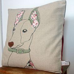 Applique Dog Pillow. $40.00, via Etsy.