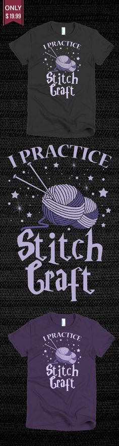 Knitting Shirt Stich Craft - Check out this Limited Edition T-Shirt! You will not find anywhere else. Available in other colors too. Not sold in stores! Grab yours or gift it to a friend, you will both love it