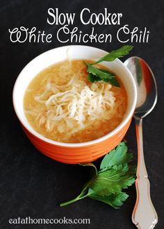 Slow Cooker White Chicken Chili - From scratch and so easy! (Chicken Chili Tomato)