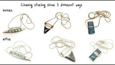 3 Ways To Clean Sterling Silver Jewelry Clean Sterling Silver, Sterling Silver Jewelry, Artsy, Cleaning, Crafty, Personalized Items, Earrings, Shopping, Youtube