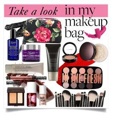"""Makeup bag"" by marianavegamiranda on Polyvore featuring Belleza, Maybelline, Manic Panic NYC, LAQA & Co., Dolce&Gabbana, Kiehl's, Laura Mercier, Benefit, MAC Cosmetics y Kat Von D"