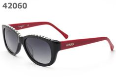 Chanel Pearl Sunglasses 40942 Gray Lens red arm
