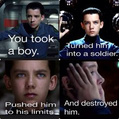Ender's Game----aka How to Manipulate a Child into Committing Genocide and Destroying an Entire Planet Without Him Knowing.