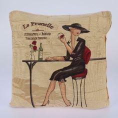 Povlak na polštář La Prunelle 47 x 47 cm Burlap, Reusable Tote Bags, Tips, Hessian Fabric, Jute, Canvas, Counseling
