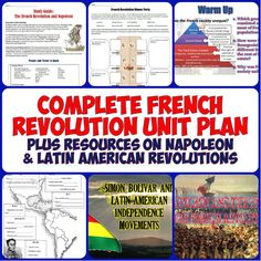 This download includes everything you would need for a week-long unit on the French Revolution, the rise and fall of Napoleon, and Latin American Revolutions! Includes 4 PowerPoints and a ton of great worksheets, readings, projects, a review guide, and test!