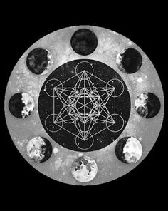 chaosophia218: Moon Phases with Metatron's Cube.Metatron's Cube...