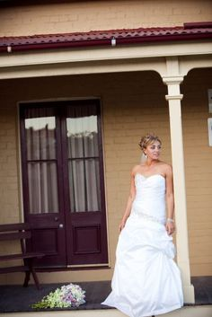 Dianna Saker, wedding dress by Skarr Bridal