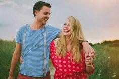 copyright Hanke Arkenbout Photography couple love field sunset evening summer laugh