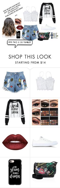 """""""Tumblr Summer"""" by lila2402 ❤ liked on Polyvore featuring Disney Stars Studios, Lime Crime, Converse, Casetify, Marc Jacobs and Mixit"""
