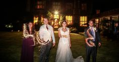 Sparkler Love at a lovely Horsted Place wedding