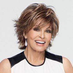 Raquel Welch short shag hairstyle