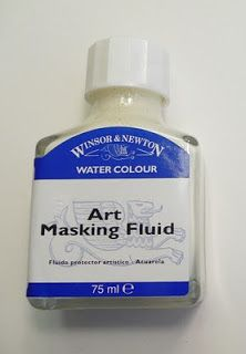 how to mix use masking fluid for watercolor ocean