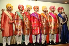 Rohit Bal at India Couture Week 2014 - men in colorful sherwanis and turbans