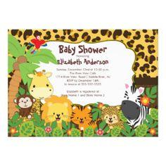 Invitaciones Safari Baby Shower | Invitaciones Safari Baby Shower para cumpleaños, bodas, bautizos, comuniones y mucho más.