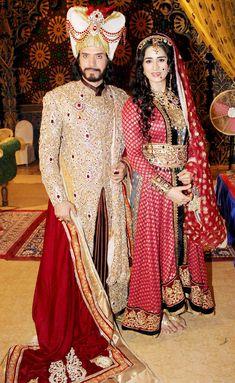 Sooraj Thapar and Thalida Turi on location shoot of TV serial 'Razia Sultan'. #Bollywood #Fashion #Style #Beauty
