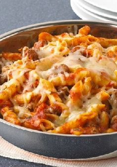Penne Pasta Skillet – One is the loneliest number—and that's a good thing when it's the number of pans you have to clean after making this savory Penne Pasta Skillet!