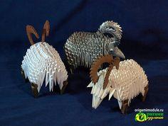 Модульное оригами баран