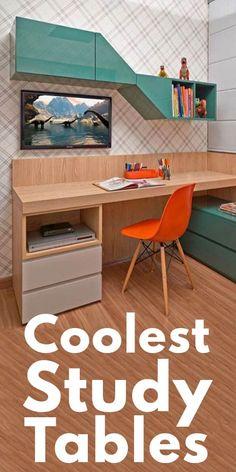 Room Design Bedroom, Bedroom Furniture Design, Home Room Design, Home Decor Furniture, Bedroom Decor, Bedroom Tv, Study Room Furniture, Study Room Decor, Study Room Kids