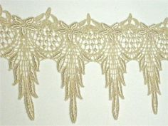 Stunning Venice Lace 1 YD Victorian Swag Wide Golden Dyed. $7.25, via Etsy.