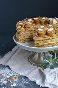 Gâteau de Crêpes Façon « Paris-Brest » - Safran Gourmand