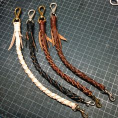 Heavy Duty Leather Braided Wallet Lanyard, Wallet Tether, Wallet Rein / Old Glory Handcrafted Lanyard Wallet, Wallet Chain, Leather Keychain, Leather Wallet, Leather Office Bags, Rugged Style, Leather Carving, Leather Accessories, Mens Clothing Styles