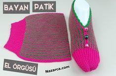el-orgusunden-kadin-patikler-dugmeli Crochet Top, Crochet Hats, Or Rose, Diy And Crafts, Knitting, Baby, Tops, Fashion, Toddler Girl Shoes