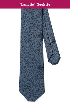 """""""Lancilo"""" Necktie. Bridge the gap between casual & elegant with our Lancilo Necktie. Named from platinum recording artist Pharell """"Lancilo"""" Williams to match his upbeat music and true character. Made of authentic 1980's Leon Kalajian Original 100% Silk Jacquard to give you a shimmering look of style & grace. No. Produced 