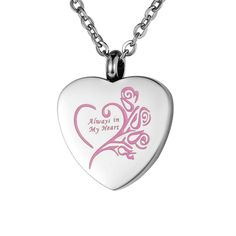 VALYRIA Memorial Jewelry 'Always in My Heart' Cremation Urn Pendant Necklace -- Find out more details by clicking the image : Cat Memorials