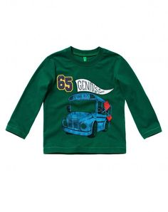T-shirt with patch Green - Boys | Benetton