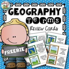 Free Geography Terms Review Cards