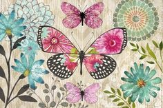 Flower Spotted Butterfly Dream Hz by Jennifer Brinley | Ruth Levison Design