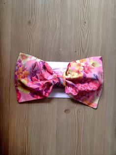 Pink Floral Bow Bandeau Top Cotton Bow Bandeau Bikini by SWANTREE