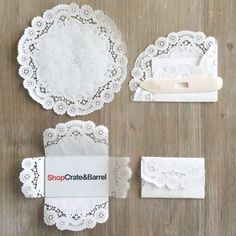 Super prettie and easy Paper Doily Gift Card Envelope #diy..Making ordinary gift giving extraordinary! xo