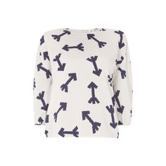 Holy-Blusenshirt-mit-Pfeil-Muster-Damen-Bluse-NEU