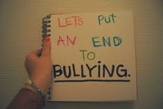 It's time to stop the bullying. The humans started the bullying and we're the ones who can stop it too.