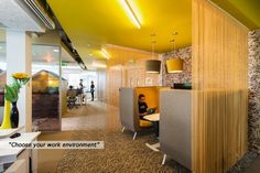 Small private spaces for people to work without requiring an office