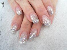 Silver glitter acrylics 2012