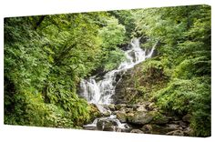 Canvart premium #canvasprint Forest Waterfall Giclee Gallery Wrap Canvas. Buy now at http://canvart.co.uk/forest-waterfall-giclee-gallery-wrap-canvas.html