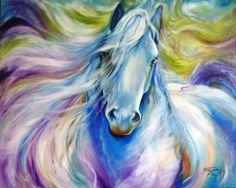 Dreamscape Freisian Painting by Marcia Baldwin - Dreamscape Freisian Fine Art Prints and Posters for Sale