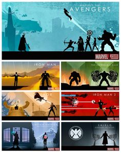 Marvel Cinematic Universe Box Set Art by *Cakes-and-Comics on deviantART