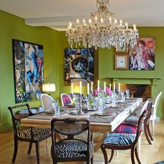 #dinning rooms# harlequin chairs #fresh painted walls @ Deedidit d.