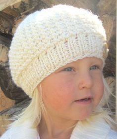 Knitting Pattern Hat- Beanie - Slouch Hat - Knit Pattern - Baby - Child