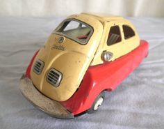 Old Tin Toy ISETTA CAR