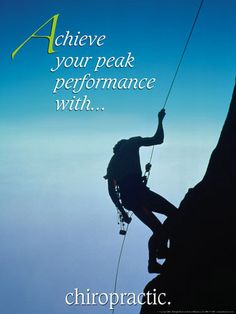 <3 Achieve your peak performance with... CHIROPRACTIC!