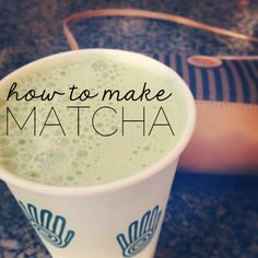 How to make matcha & matcha lattes // Thoughts by Natalie. Just ordered some matcha to try at home, pinning to keep instructions handy!