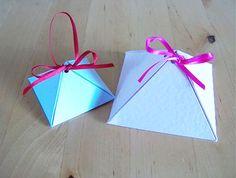 easy pyramid gift box tutorial | make handmade, crochet, craft