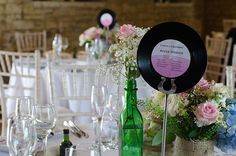 The Musically Inspired Wedding. LOVE the record idea. Neat and Unique!