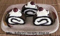 "kakaová roláda ""peříčko"" Russian Recipes, Recipies, Cheesecake, Food And Drink, Ice Cream, Pudding, Sweets, Cookies, Baking"
