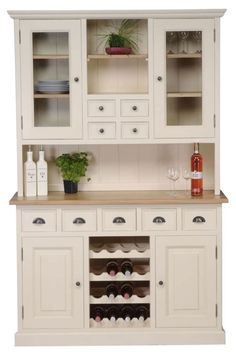 TFW Mottisfont Painted Dresser - with Wine Rack 4 Doors 9 Drawers